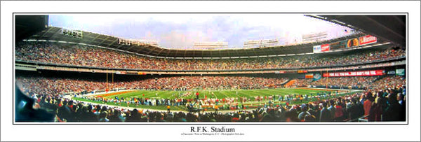 Washington Redskins R.F.K. Stadium Gameday Panoramic Poster Print - Everlasting Images Inc.