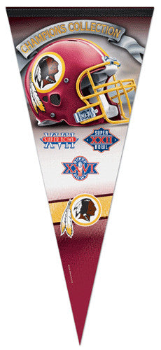 Washington Redskins 3-Time Super Bowl Champions EXTRA-LARGE Premium Pennant