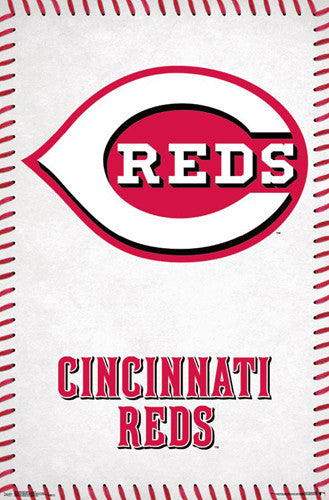 Cincinnati Reds Official MLB Baseball Team Logo Poster - Trends International