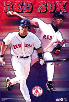 "Boston Red Sox ""The Franchise"" Poster (Pedro Martinez, Nomar Garciaparra) - Starline 2000"