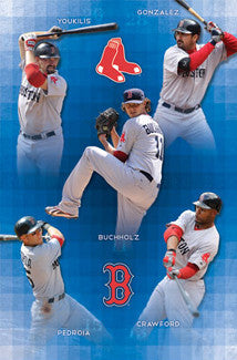 "Boston Red Sox ""Super Five"" (2011) Poster - Costacos Sports"