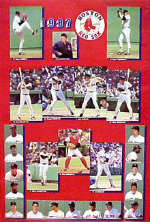 Boston Red Sox 1987 Team Composite Poster - Action Poster Co.