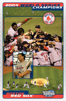"Boston Red Sox ""Celebration"" 2004 World Series Champs Poster - Costacos Sports"