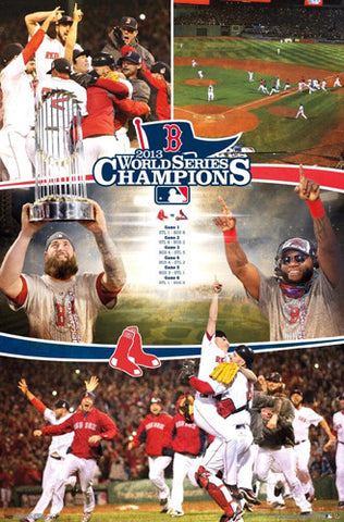 "Boston Red Sox ""Celebration 2013"" World Series Champions Poster - Costacos"