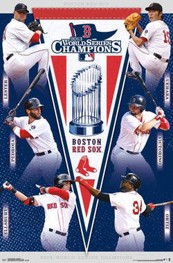 Boston Red Sox 2013 World Series Champions 6-Player Commemorative Poster - Trends International