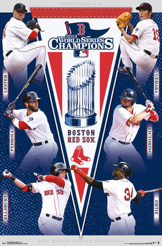 Boston Red Sox 2013 World Series Champions Commemorative Poster
