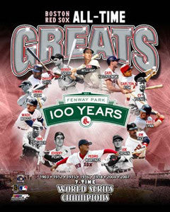 "Boston Red Sox ""All-Time Greats"" (14 Legends) Premium Poster Print - Photofile Inc."