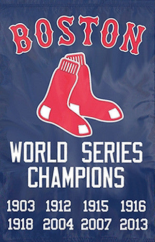 Boston Red Sox World Series Championship Years Premium Applique Banner - Party Animal