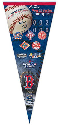Boston Red Sox 8-Time World Champs EXTRA-LARGE Premium Pennant