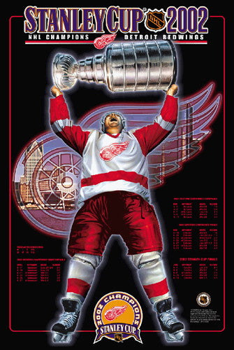 "Detroit Red Wings ""Holy Grail"" 2002 Stanley Cup Championship Poster - Action Images"