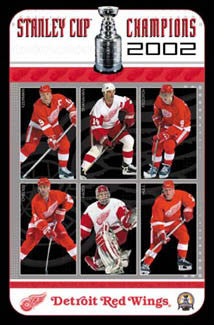 Detroit Red Wings 2002 Stanley Cup Champions Commemorative Poster - Costacos Sports