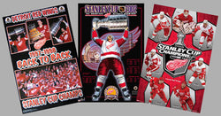 COMBO: Detroit Red Wings Champions 3-Poster Combo