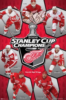 Detroit Red Wings 2008 Stanley Cup Champs Commemorative Poster - Costacos Sports