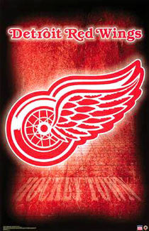 "Detroit Red Wings ""Hockeytown"" Official NHL Team Logo Poster - Starline"