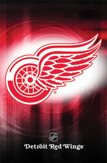 Detroit Red Wings Official NHL Hockey Logo Poster - Costacos