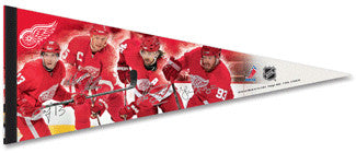 "Detroit Red Wings ""Quartet"" Premium Felt Pennant L.E. /2,008"