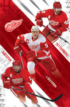 "Detroit Red Wings ""Super Trio"" Poster (Datsyuk, Lidstrom, Zetterberg) - Costacos 2010"