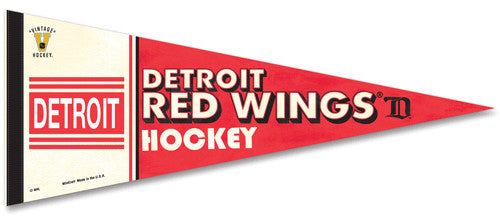 "Detroit Red Wings (Cougars) ""Vintage Hockey"" Premium Pennant"