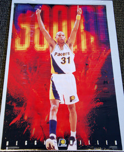 "Reggie Miller ""BOOM!"" Indiana Pacers NBA Action Posters - Costacos Brothers 1996"