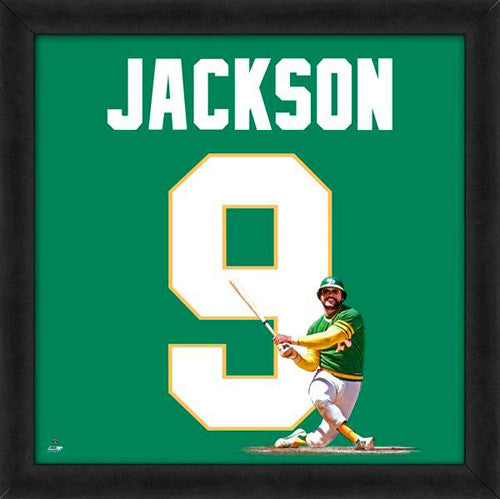 "Reggie Jackson ""Number 9"" Oakland A's MLB FRAMED 20x20 UNIFRAME PRINT - Photofile"