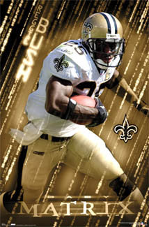 "Reggie Bush ""Baby Matrix"" New Orleans Saints NFL Action Poster - Costacos 2006"