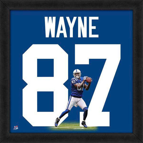 "Reggie Wayne ""Number 87"" Indianapolis Colts NFL FRAMED 20x20 UNIFRAME PRINT - Photofile"