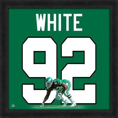 "Reggie White ""Number 92"" Philadelphia Eagles NFL FRAMED 20x20 UNIFRAME PRINT - Photofile"