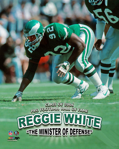 "Reggie White ""Minister of Defense"" (c.1990) Philadelphia Eagles Poster Print - Photofile Inc."
