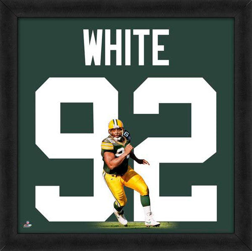 "Reggie White ""Number 92"" Green Bay Packers FRAMED 20x20 UNIFRAME PRINT - Photofile"