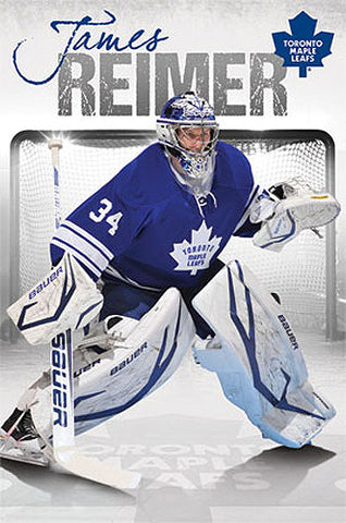 "James Reimer ""Superstar"" Toronto Maple Leafs NHL Hockey Poster - Costacos 2013"