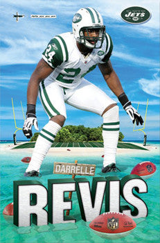 "Darrelle Revis ""Revis Island"" New York Jets NFL Poster - Costacos Sports"