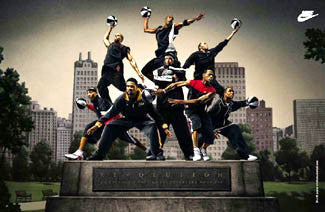 "Nike Basketball ""Hoop Revolution"" Poster (LeBron James, Stoudemire, Jefferson, Prince, ++) - Nike 2004"
