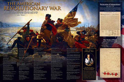The American Revolutionary War (1775-83) History Educational Wall Chart Poster - Eurographics Inc.