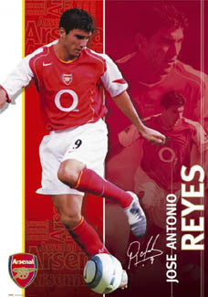 "Jose Antonio Reyes ""Signature"" Arsenal FC Poster - GB 2004"