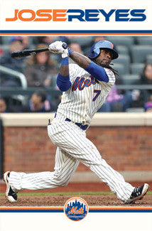 "Jose Reyes ""Power"" New York Mets Poster - Costacos 2011"