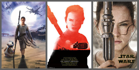 COMBO: Star Wars The Force Awakens REY 3-Poster Combo Set - Trends International