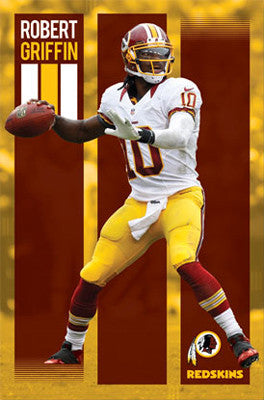 "Robert Griffin III ""Arrival"" Washington Redskins Poster (2012) - Costacos Sports"
