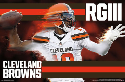 "Robert Griffin III ""Gunslinger"" Cleveland Browns NFL Action Wall Poster - Trends International 2016"