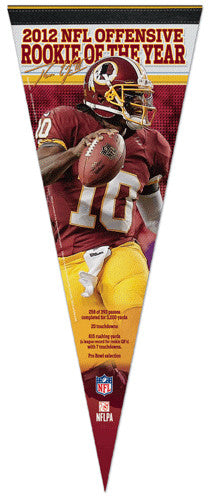 Robert Griffin III 2012 NFL Rookie of the Year Washington Redskins Premium Felt Pennant
