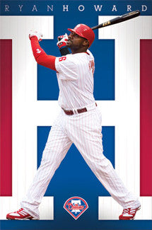 "Ryan Howard ""H for Homer"" Philadelphia Phillies MLB Action Poster - Costacos 2011"