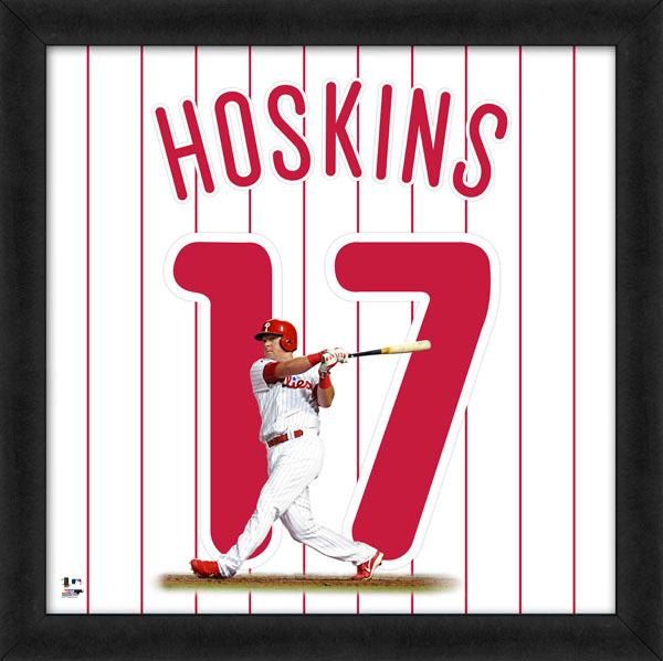 "Rhys Hoskins ""Number 17"" Philadelphia Phillies MLB FRAMED 20x20 UNIFRAME PRINT - Photofile"