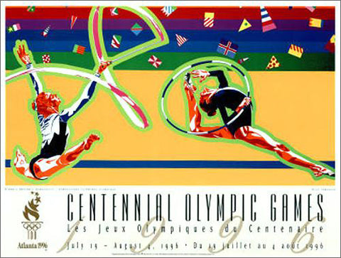 Atlanta 1996 Olympics Rhythmic Gymnastics Official Event Poster - Fine Art Ltd.