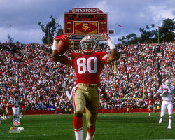 "Jerry Rice ""Glory"" (1989) San Francisco 49ers Premium Poster Print - Photofile Inc."