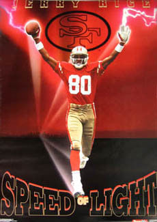 "Jerry Rice ""Speed of Light"" San Francisco 49ers Poster - Costacos 1991"