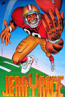 "Jerry Rice ""SuperJerry"" San Francisco 49ers Poster - Nike 1991"