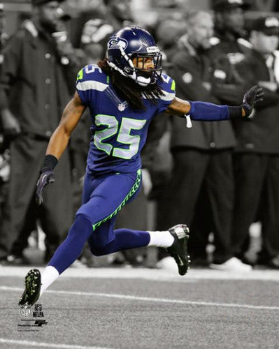 "Richard Sherman ""Spotlight"" Seattle Seahawks Premium Poster Print - Photofile 16x20"