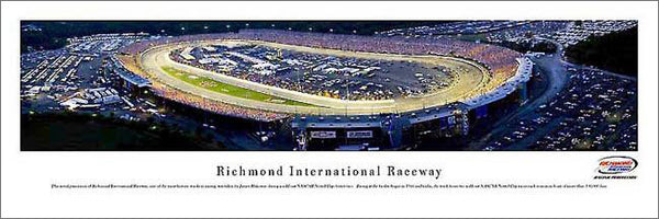 Richmond International Raceway Race Night (2006 Crown Royal 400) Aerial Panoramic Poster Print - Blakeway