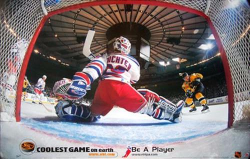 "Mike Richter ""Netcam"" New York Rangers NHL Hockey Poster - T.I.L. 1999"