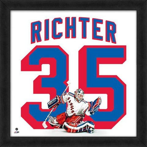 "Mike Richter ""Number 35"" New York Rangers NHL FRAMED 20x20 UNIFRAME PRINT - Photofile"
