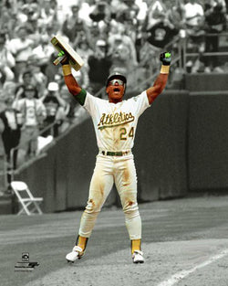 "Rickey Henderson ""939"" Oakland A's Spotlight-Edition Premium MLB Poster Print - Photofile Inc."